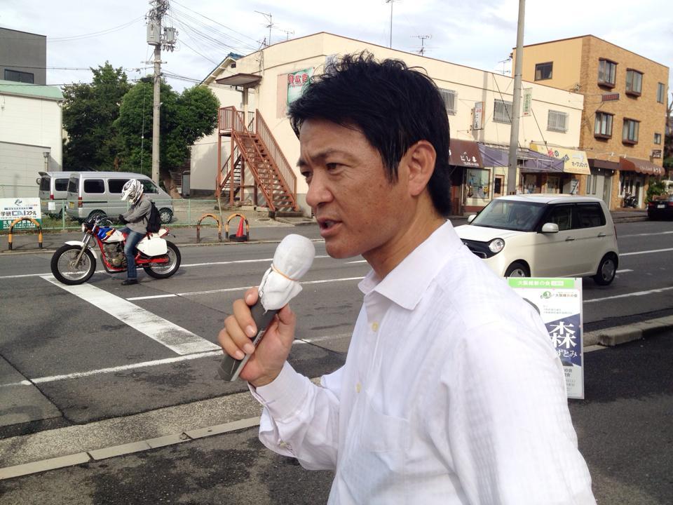和泉各所駅立ち2014_森かずとみ3